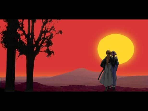 kenshin-kaoru-sunset